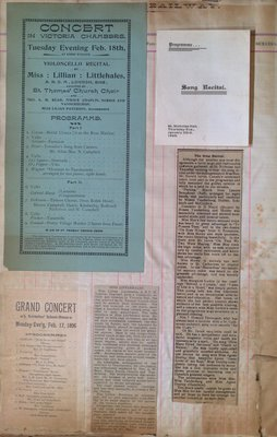 Teresa Vanderburgh's Musical Scrapbook #1 - Newspaper Clippings, and Concert and Recital Programs