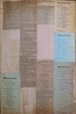 Teresa Vanderburgh's Musical Scrapbook #1 - Newspaper Clippings and Musical Circle Concert Programs