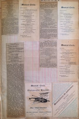 Teresa Vanderburgh's Musical Scrapbook #1 - Newspaper Clippings and Musical Circle Concert Programs