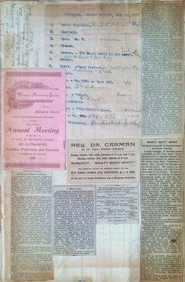 Teresa Vanderburgh's Musical Scrapbook #1 - Newspaper Clippings, Pamphlet and Program