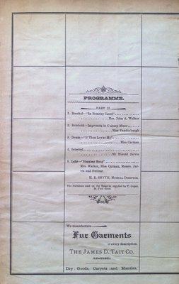 Teresa Vanderburgh's Musical Scrapbook #1 - Grand Opera House Concert Programme