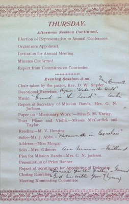 Teresa Vanderburgh's Musical Scrapbook #1 - Woman's Missionary Society Pamphlet