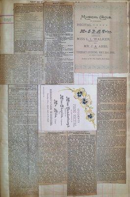 Teresa Vanderburgh's Musical Scrapbook #1 - Newspaper Clippings and Recital Programs