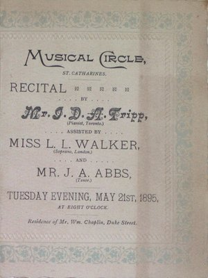 Teresa Vanderburgh's Musical Scrapbook #1 - Musical Circle Recital Program