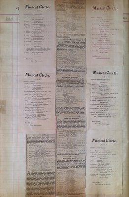 Teresa Vanderburgh's Musical Scrapbook #1 - Musical Circle Pamphlets and Newspaper Clippings