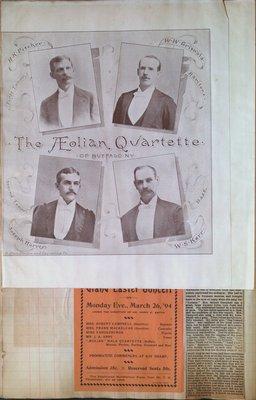 Teresa Vanderburgh's Musical Scrapbook #1 - Newspaper Clippings and Concert Programs