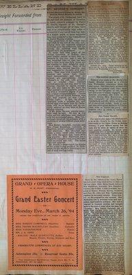 Teresa Vanderburgh's Musical Scrapbook #1 - Newspaper Clippings and Concert Program