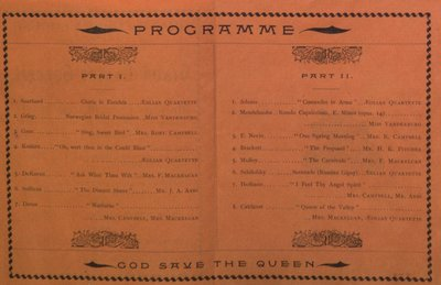 Teresa Vanderburgh's Musical Scrapbook #1 - Grand Easter Concert Program