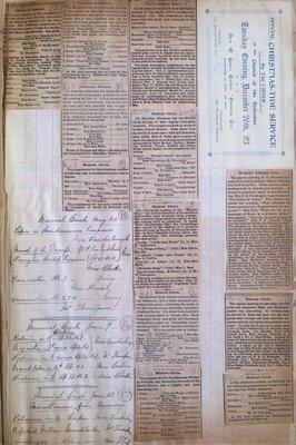 Teresa Vanderburgh's Musical Scrapbook #1 - Concert Program and Newspaper Clippings