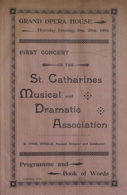 Teresa Vanderburgh's Musical Scrapbook #1 - Concert Program