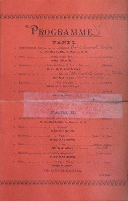 Teresa Vanderburgh's Musical Scrapbook #1 - Grand Concert at the Collegiate Institute
