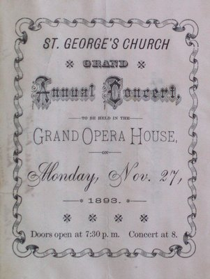 Teresa Vanderburgh's Musical Scrapbook #1 - St. George's Church Grand Annual Concert Program