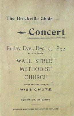 Teresa Vanderburgh's Musical Scrapbook #1 - Brockville Choir Concert Program