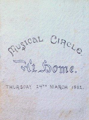 Teresa Vanderburgh's Musical Scrapbook #1 - Musical Circle Program