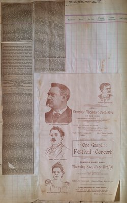 Teresa Vanderburgh's Musical Scrapbook #1 - Concert Program and Newspaper Clippings