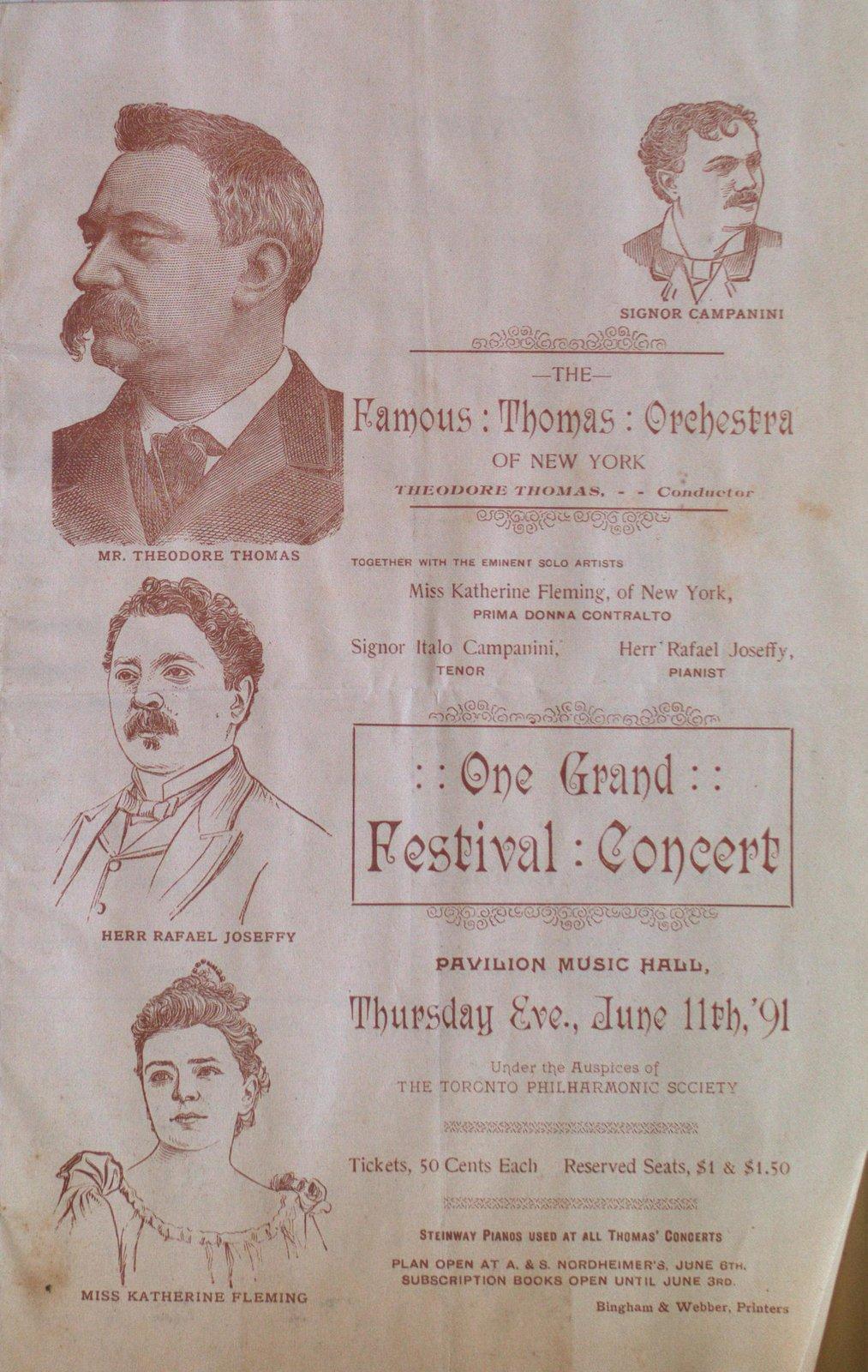 Teresa Vanderburgh's Musical Scrapbook #1 - Concert Program