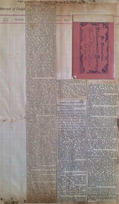 Teresa Vanderburgh's Musical Scrapbook #1 - St. Catharines Philharmonic Society Concert Program and Newspaper Clippings