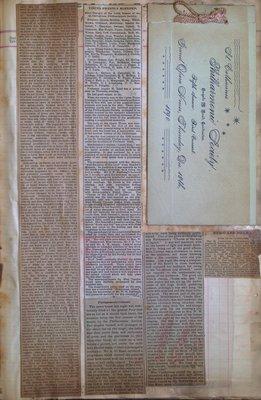 Teresa Vanderburgh's Musical Scrapbook #1 - Newspaper Clippings and Philharmonic Society Program