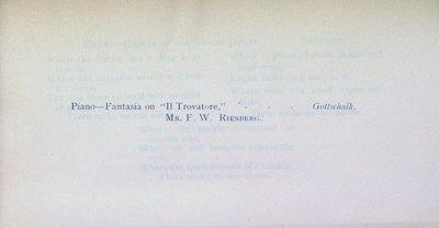 Teresa Vanderburgh's Musical Scrapbook #1 - St. Catharines Philharmonic Society Concert Program