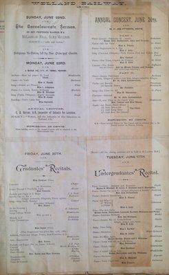 Teresa Vanderburgh's Musical Scrapbook #1 - Concert Programs