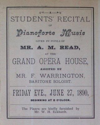 Teresa Vanderburgh's Musical Scrapbook #1 - Recital Program