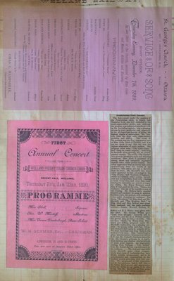 Teresa Vanderburgh's Musical Scrapbook #1 - Newspaper Clipping and Concert Programs
