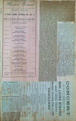 Teresa Vanderburgh's Musical Scrapbook #1 - Concert Programs and Newspaper Clippings