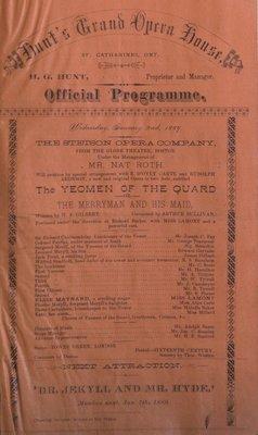 Teresa Vanderburgh's Musical Scrapbook #1 - Grand Opera House Official Program