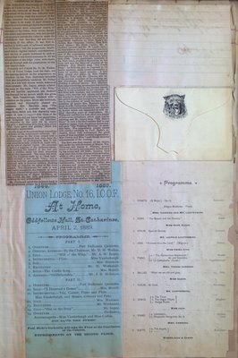 Teresa Vanderburgh's Musical Scrapbook #1 - Newspaper Clippings, Concert Programs and Letters