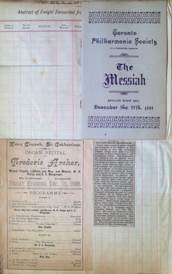 Teresa Vanderburgh's Musical Scrapbook #1 - Programs and Newspaper Clipping