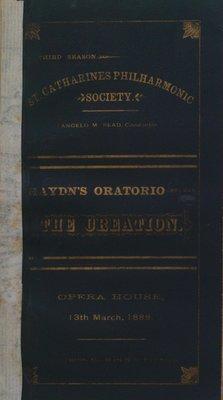 Teresa Vanderburgh's Musical Scrapbook #1 - St. Catharines Philharmonic Society Program