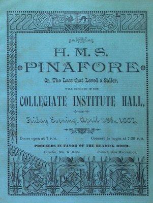 Teresa Vanderburgh's Musical Scrapbook #1 - H.M.S. Pinafore Program