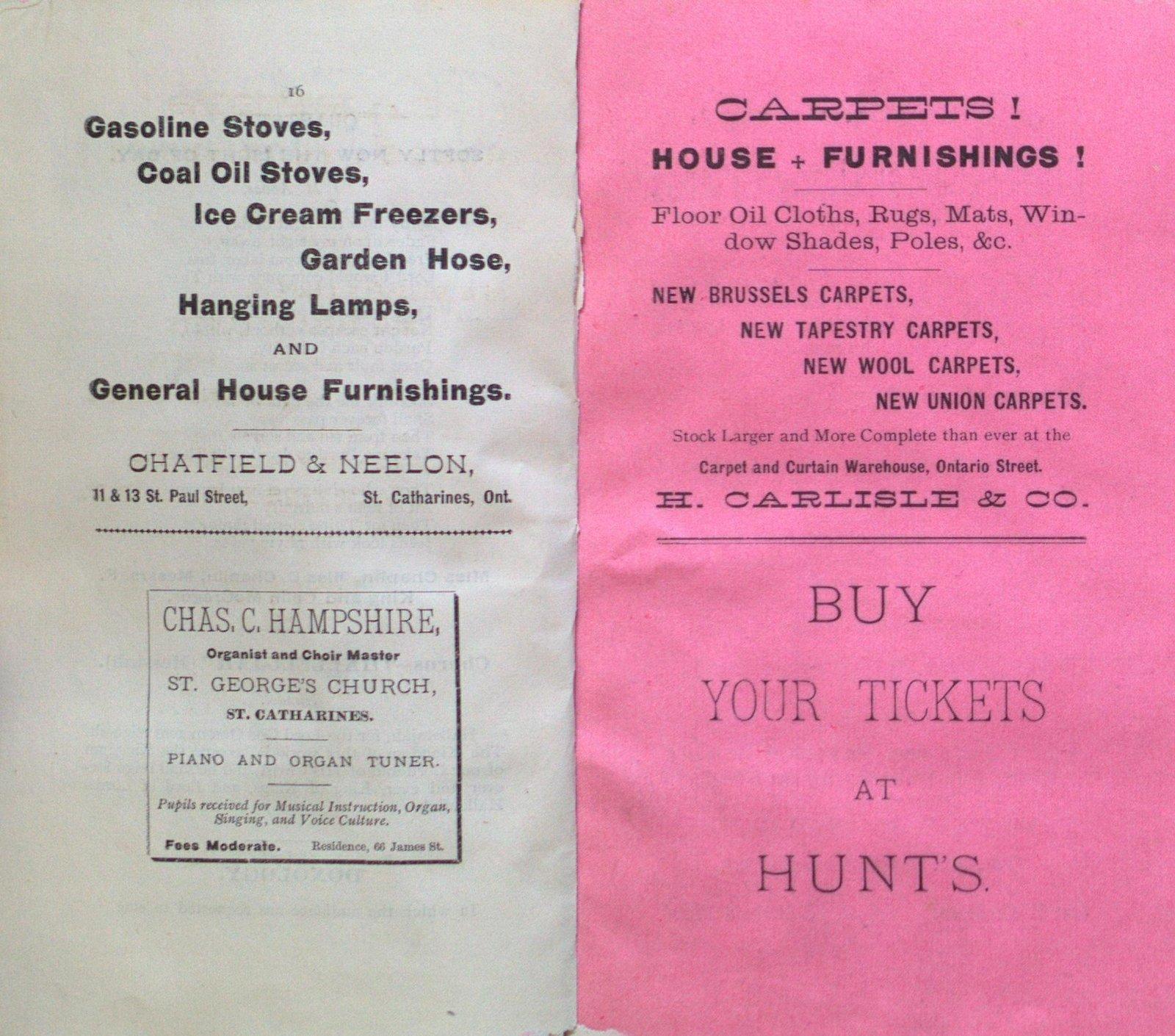"""Teresa Vanderburgh's Musical Scrapbook #1 - The Cantata """"Ruth"""" Program"""