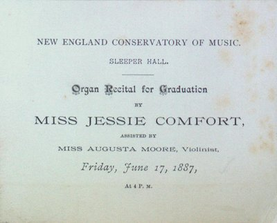 Teresa Vanderburgh's Musical Scrapbook #1 - Organ Recital Program