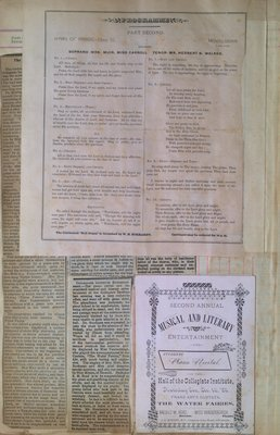 Teresa Vanderburgh's Musical Scrapbook #1 - Newspaper Clippings and Musical Programs
