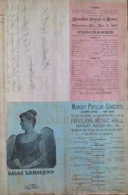 Teresa Vanderburgh's Musical Scrapbook #1 - Personal Letter and Concert Programs