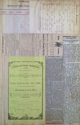 Teresa Vanderburgh's Musical Scrapbook #1 - Musical Programs and Newspaper Reviews