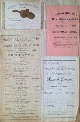 Teresa Vanderburgh's Musical Scrapbook #1 - Various Concert Programs