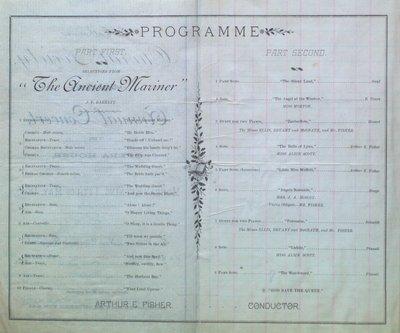 Teresa Vanderburgh's Musical Scrapbook #1 - Choral Society Annual Concert