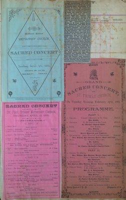 Teresa Vanderburgh's Musical Scrapbook #1 - Sacred Concert Programs and a Newspaper Clipping