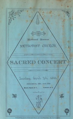 Teresa Vanderburgh's Musical Scrapbook #1 - Welland Avenue Methodist Church Sacred Concert