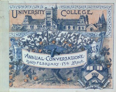 Teresa Vanderburgh's Musical Scrapbook #1 - University College Annual Conversazione