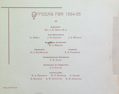 Teresa Vanderburgh's Musical Scrapbook #1 - University College, Annual Conversazione