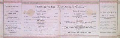 Teresa Vanderburgh's Musical Scrapbook #1 - University College Literary and Scientific Society Annual Conversazione