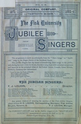 Teresa Vanderburgh's Musical Scrapbook #1 - The Fisk University Jubilee Singers