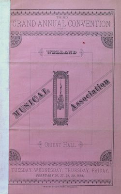 Teresa Vanderburgh's Musical Scrapbook #1 - Welland Musical Association, Third Grand Annual Convention