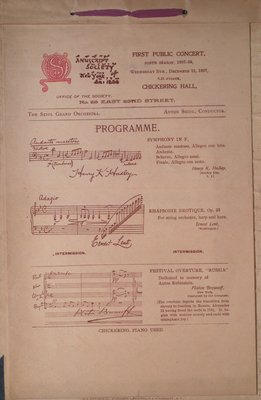 Teresa Vanderburgh's Musical Scrapbook #2 - Inside Cover Musical Program