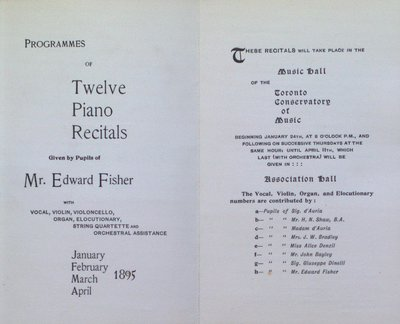 Teresa Vanderburgh's Musical Scrapbook #2 - 12 Piano Recital Programs for Pupils of Mr. Edward Fisher