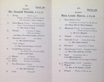 Teresa Vanderburgh's Musical Scrapbook #2 - 12 Piano Recital Programs for Pupils of Mr. Edward Fisher