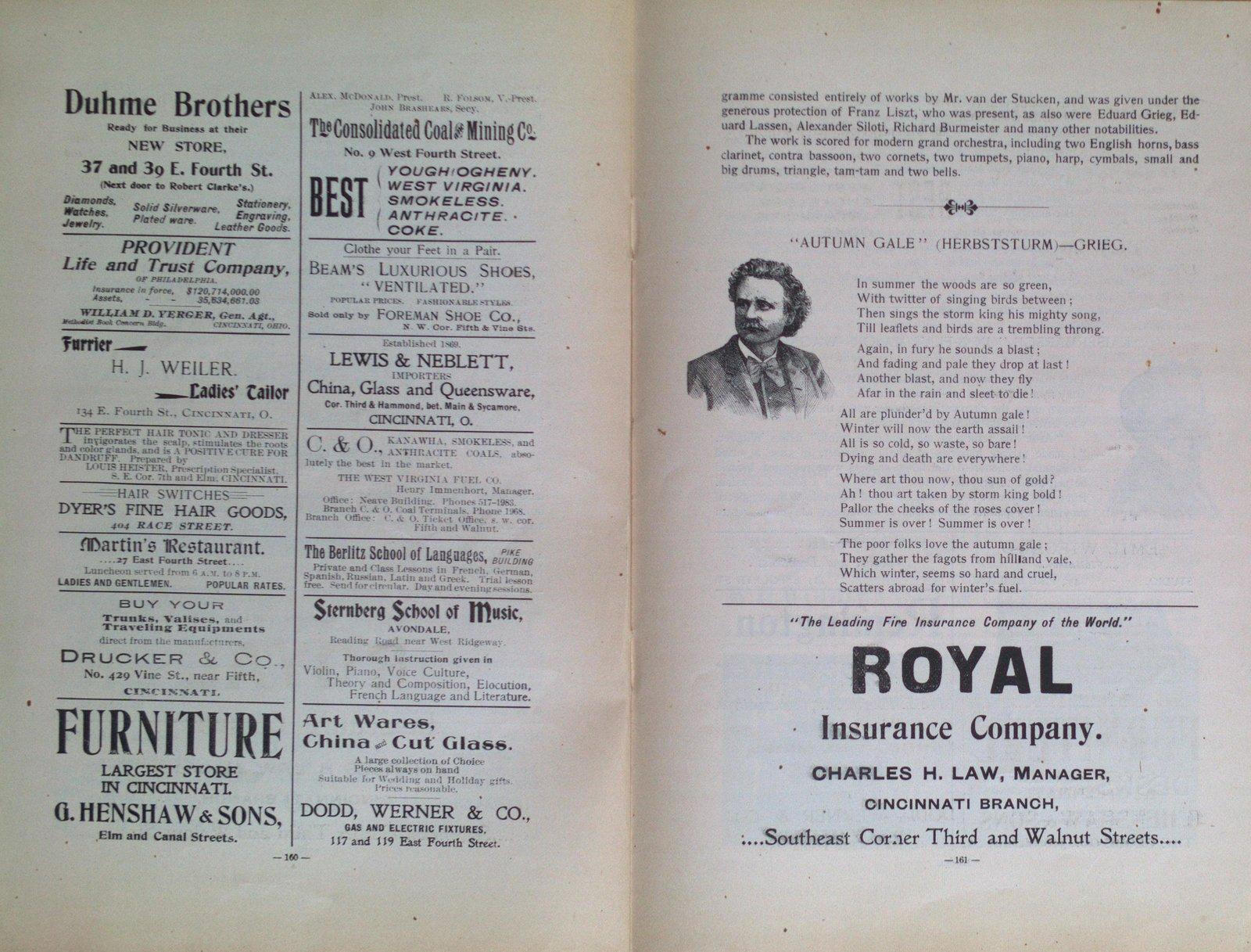 Teresa Vanderburgh's Musical Scrapbook #2 - Cincinnati Symphony Orchestra